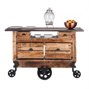 Industrial Kitchen Island Storage Trolley